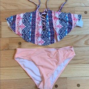 Beautiful pink bathing suit